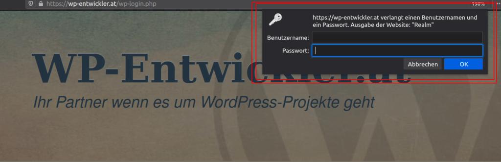 htaccess User und Passwort Abfrage