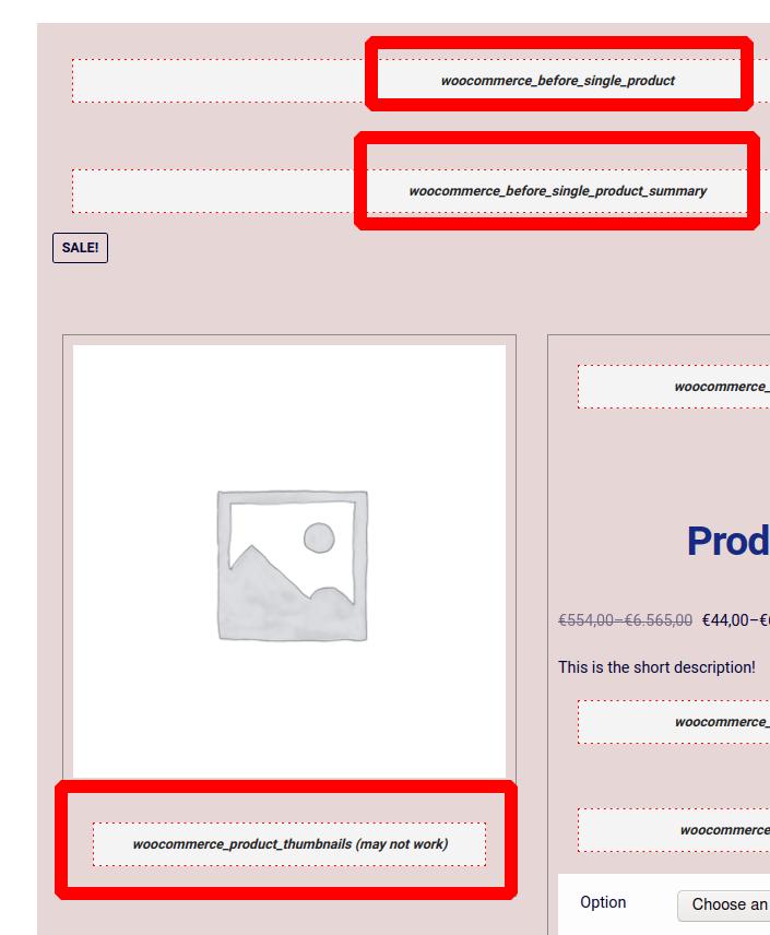 Screenshot Hooks visuell bei der Produktseite dargestellt